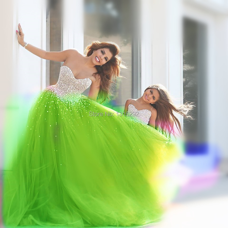 Masquerade Gowns 2015 Vintage Lime Green Quinceanera Dresses Girl ...