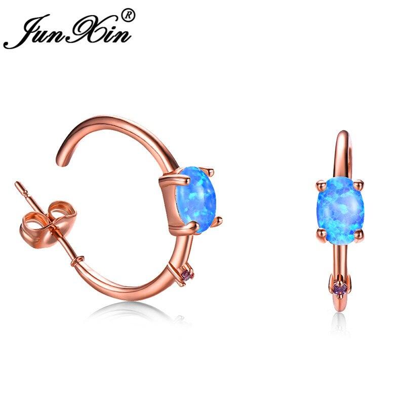 Rose Gold Blue Opal