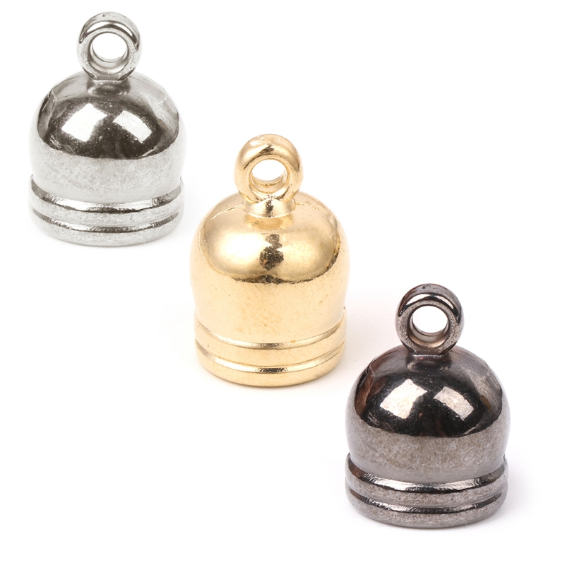 50x Tassel Caps Leather Cord End Caps Jewelry Making for DIY Accessories 6-10mm