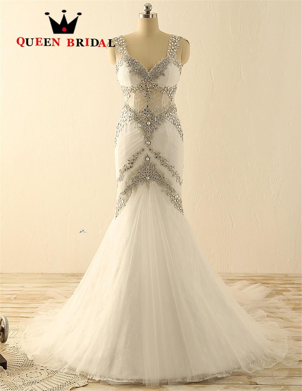 Sexy Mermaid Open Back Bridal Gown Vestidos De Novia 2018 robe de mariee Custom Made Luxury
