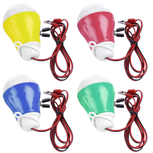 4pcs Kit 5v5w LED Bulb Replacement Bulb with Wiring and Clamp for Stirling Generator Random Color Model Building Kits