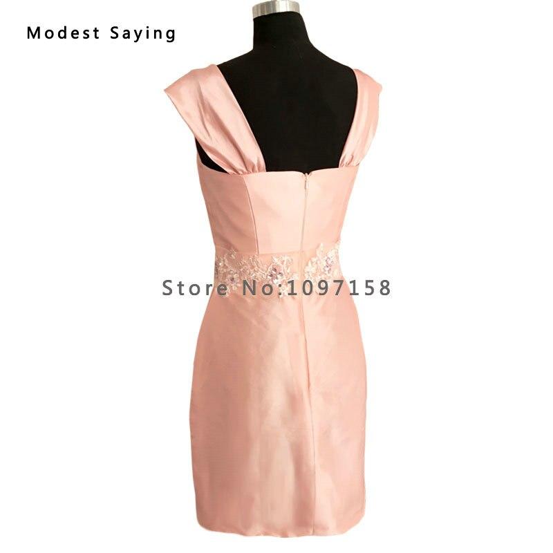 Elegantna Nude Pink Taffeta Majka nevjeste Čipkaste haljine 2017 s - Vjenčanje večernje haljine - Foto 5