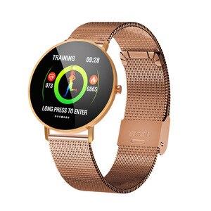 Image 4 - Inteligentny zegarek bransoletka F25 pełnoekranowy dotykowy lokalizator GPS pulsometr Monitor ciśnienia krwi nadgarstek Sport SmartBracelet