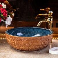 A1 бытовой ванная комната art узор чашеобразной умывальник выше умывальник фарфор LO612254