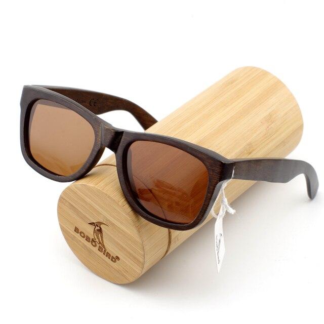 5bb37cf134 BOBO BIRD 100% Gafas De Sol De madera hechas a mano con diseño De Gafas