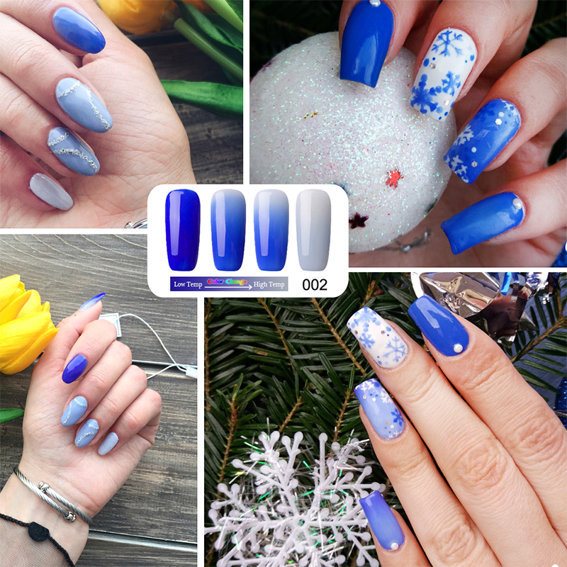 Newest 18 Colors Fashion Women Free Shipping Nail Polish Temperature ...