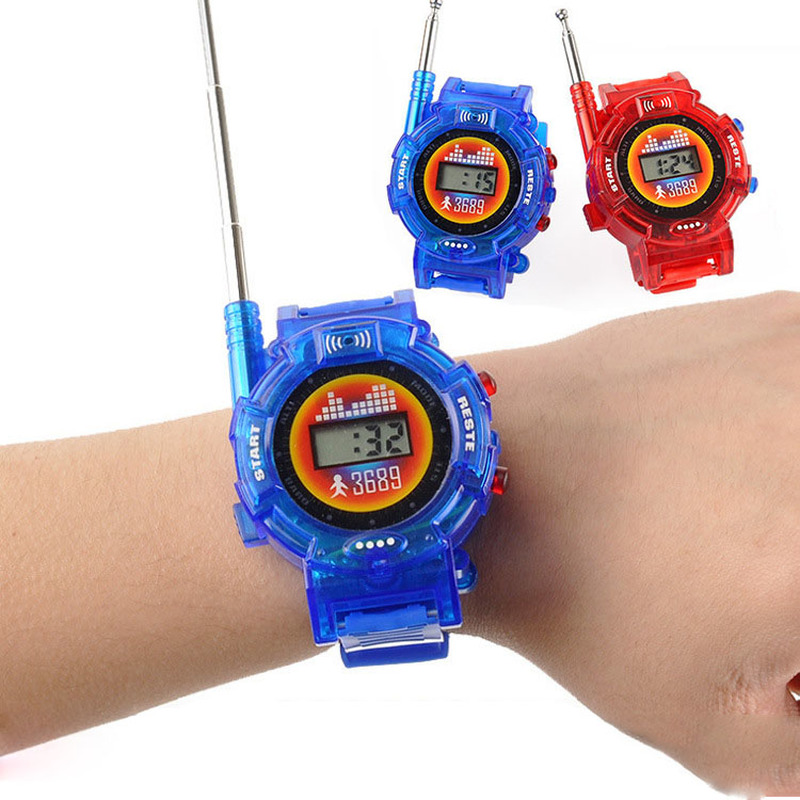 2Pcs/Pair Novelty 7in1 Kids Toys Watch Walkie-talkie Intercom Toys Outdoor Interaction Battle Game(Without Battery)
