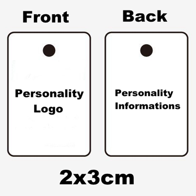 1000pcs lot 2 3cm Mini Paper Tags Customized Garment Tags Clothing Hang Tag Jewelry Tags Print