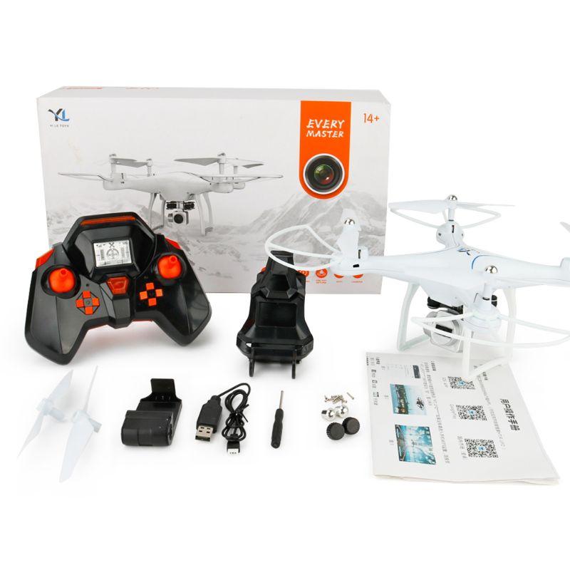 Drone RC caméra HD quadrirotor WiFi FPV 2.4G Mode sans tête vol aérien télécommande jouets enfants enfants cadeau - 2