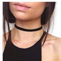 XQ xq 2pcs 2016 free shipping The new fashion Neck width collar card clavicle necklace chocker velvet belt Women's Accessories