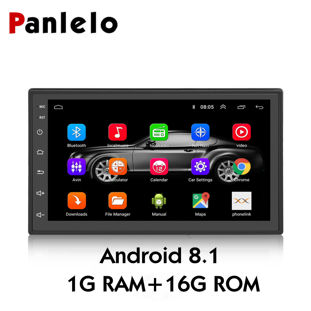 Panlelo S6 2 Din Android 8.1 Car Stereo 1080P 7 Inch Quad Core 2 din Head Unit GPS Navigation Audio Radio For Nissan Toyota 8.1 boss audio 611