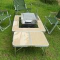 Liga de alumínio ao ar livre churrasqueira portátil dobrar mesa de piquenique mesa de ocasião
