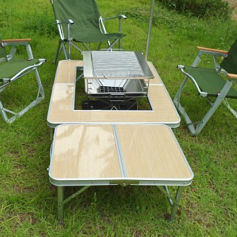 aluminium alloy outdoor portable barbecue grill fold picnic desk  occasional table