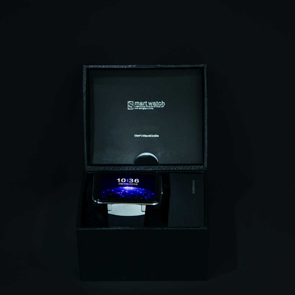 DM98 Bluetooth Смарт-часы 2,2 дюймов ОС Android 3g Смарт-часы телефон MTK6572 Dual Core 1,2 ГГц 512 Мб Оперативная память 4 Гб Встроенная память Камера WCDMA gps