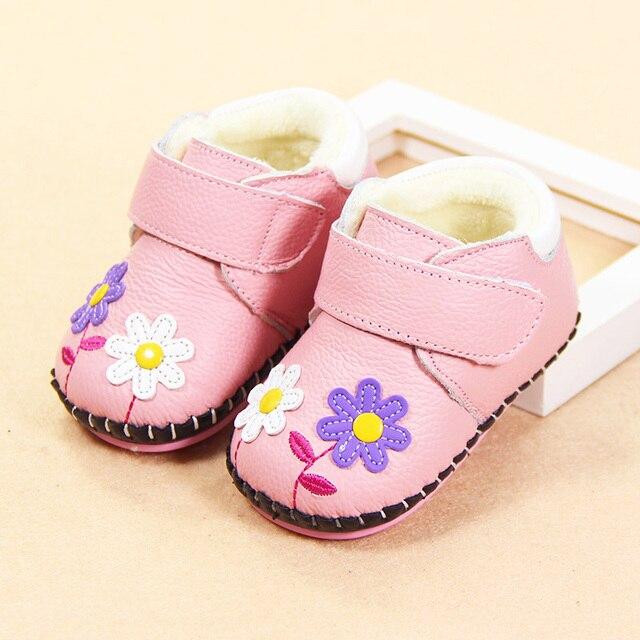 0-1 лет женский ребенка младенческой малыша обувь мягкое дно обувь в зимний период