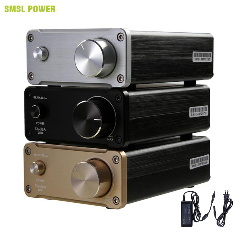High Quality SMSL SA-36A Pro 20WX2 TDA7492PE Hifi Stereo Digital <font><b>Audio</b></font> Power <font><b>Amplifier</b></font> Class d <font><b>Amplifier</b></font> with 12V Power Supply image