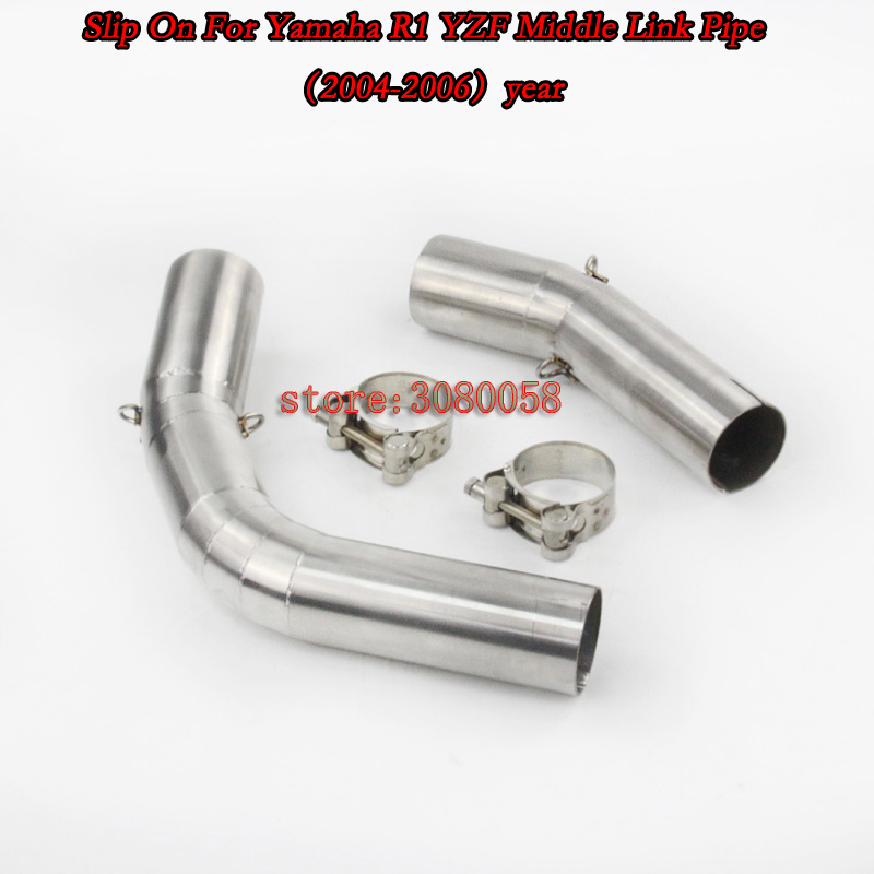 YZF-R1 Slip On For Motorcycle Exhaust Pipe Escape Moto Muffler Middle Link Tube For Yamaha R1 YZF 2004-06 07-08 09-14 years 38mm 52m motorcycle muffler exhaust pipe escape moto escapamento de for honda mxs125