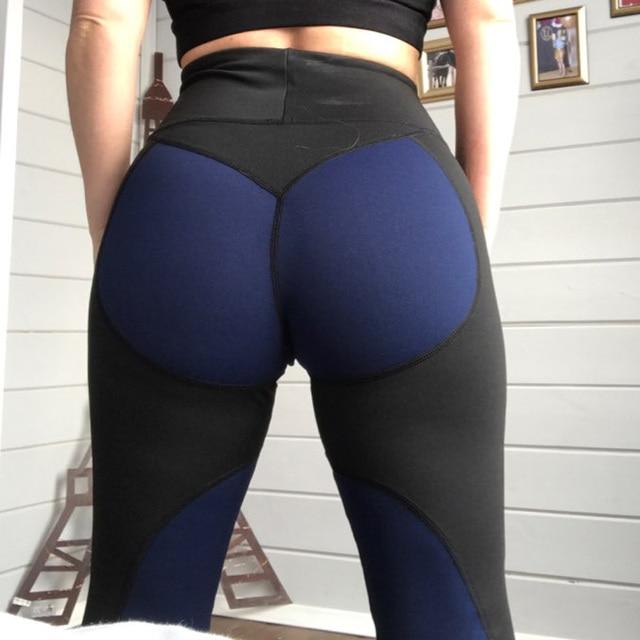 455900d1e6a9a High Waist Women New Leggings Fitness Adventure Time Patchwork Thick  Legging High Elastic Workout Leggings Sporting Pants