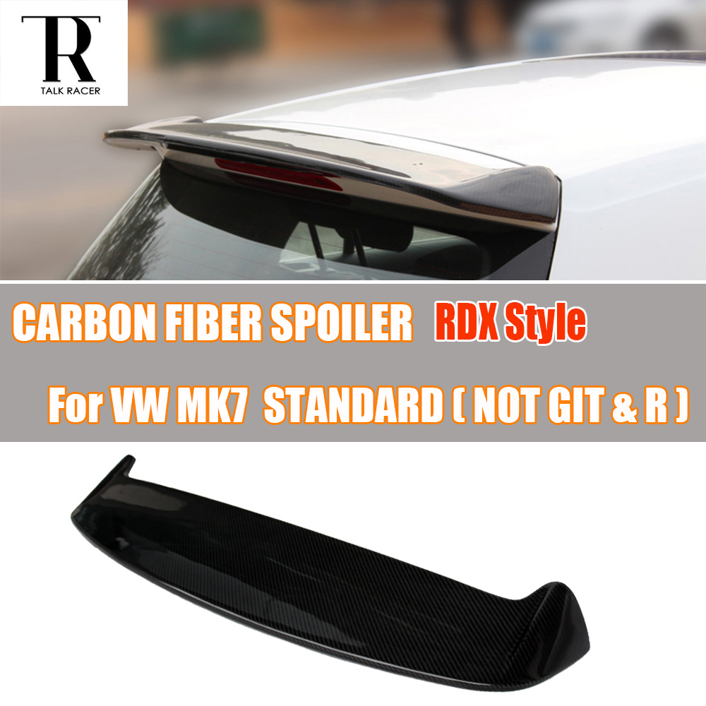 цена на MK7 RDX Style Carbon Fiber Rear Roof Wing Spoiler for Volkswagen VW Golf 7 VII MK7 Standard 2014 2015 2016 ( not fit GTI & R )