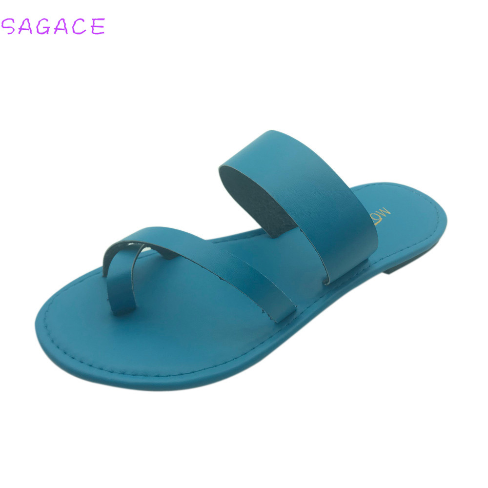 Sagace 2018 Plus Größe 35-43 Mode Weibliche Sandalen Gladiator Römischen Sommer Schuhe Bequem Flache Damen Feste Sandalen Frau Schuh Herausragende Eigenschaften Schuhe Frauen Schuhe