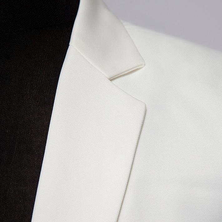Costumes Dernières 2019 Marié Pantalon Noir blanc Cravate Noir Fit Blanc Arrivée Designs Slim Hommes Costume Manteau Mariage Nouvelle P18qBtw