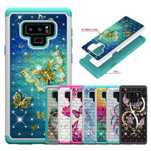 Fashion Case sFor Samsung Galaxy Note 9 Soft Silicone + Hard PC shockproof Cover For Note9 Capa