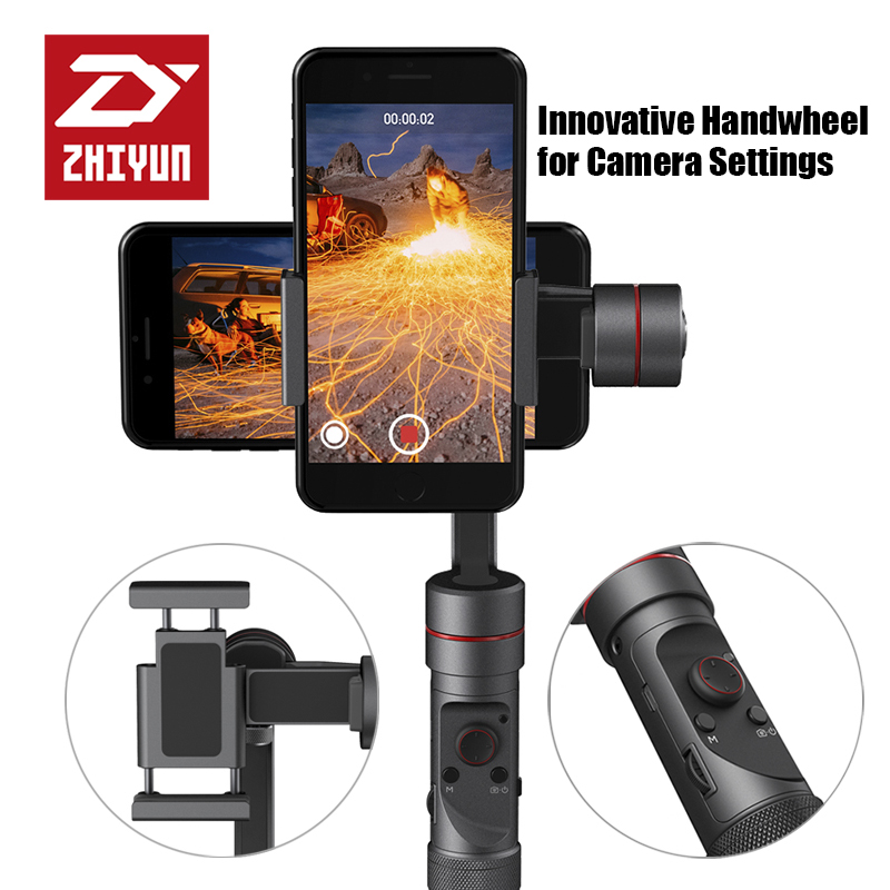 ZHIYUN Smooth 3 smartphone Handheld 3 Axis gimbal stabilizer action camera selfie phone steadicam for iphone Sumsung Gopro недорого
