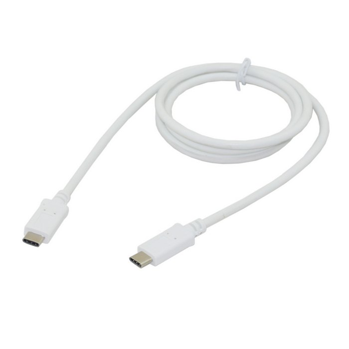 White USB-C USB 3.1 Type C Male Connector to C Male Charger Cable for Macbook & Chromebook ,Free shipping + Tracking number