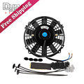 Universal 12V 80W 7 Inch Slim Reversible Electric Radiator AUTO FAN Push Pull With mounting kit 12""