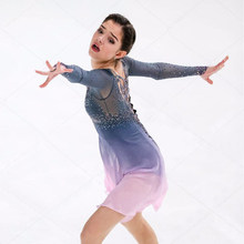 Customization Figure Skating Dresses Spandex Color Can Be Chosen By Itself Graceful Ice Skating Dresses For Competition(China)