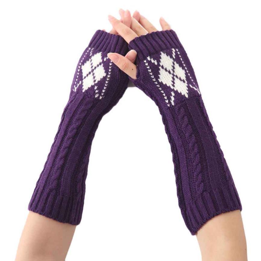 Damen-accessoires Freundlich Muqgew Frauen Mode Strick Armmanschette Fingerlose Handschuhe Winter Warme Mitten Frauen Wolle Ellenbogen Wärmer Woolen Armlinge Rheuma Lindern