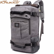 KAUKKO font b 2017 b font High capacity Laptop School Large Capacity Men s Backpack Canvas