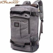 KAUKKO 2017 High ability Laptop School Large Capacity Men's Backpack Canvas Weekend Bags Multifunctional Travel Bags K1027