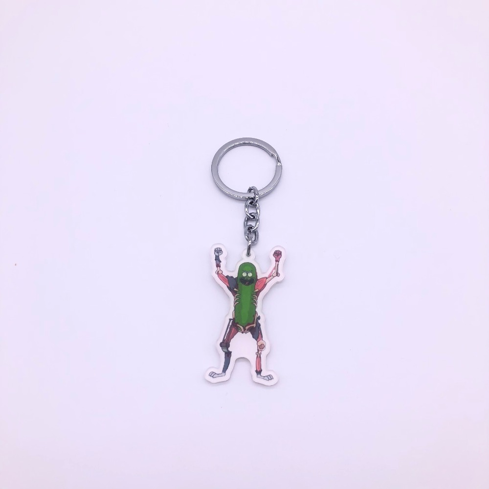 Rick and Morty Keychains Pickle Rick Cute Cartoon Key Chains Keyrings For  Women Men Ornament Cosplay Collection Gift For Car Key-in Key Chains from  Jewelry ... 305845933b