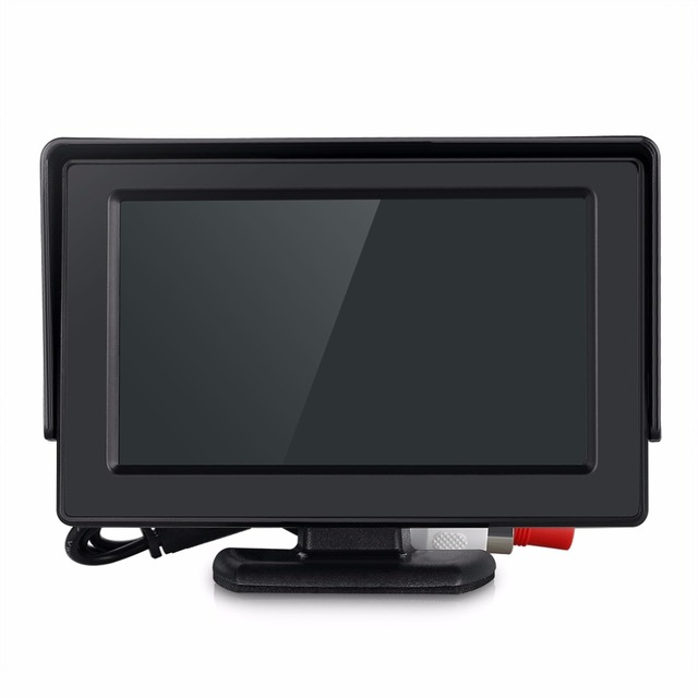 4.3″ Wireless HD LCD Foldable Car Monitor Rear View Camera Backup Parking Reverse Camera IR Night Vision