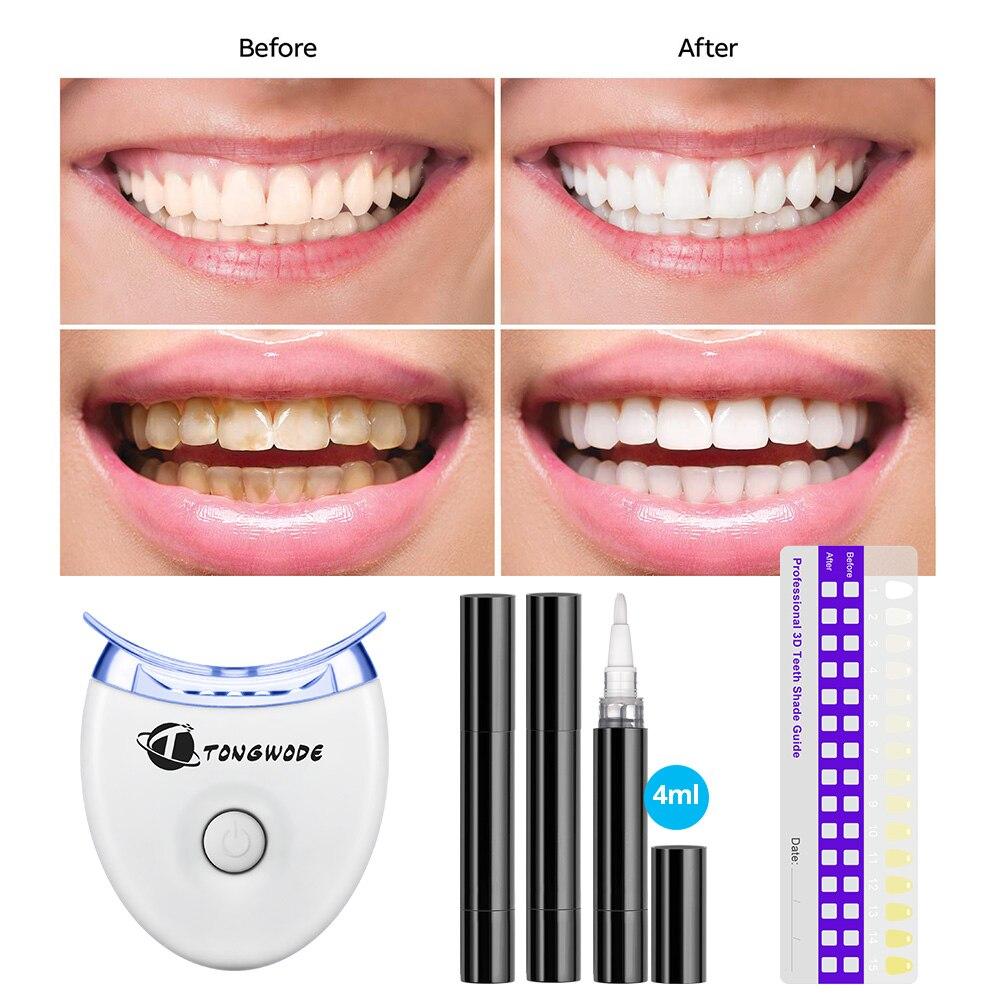 Tongwode Teeth Whitening Units 3 Gel Pen 1 Dental Lamp Led Light