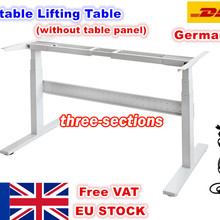 Column Desk-Lift-Table Electric-Motor Folding Flip VAT Three-Section Two-Foot Eu-Free