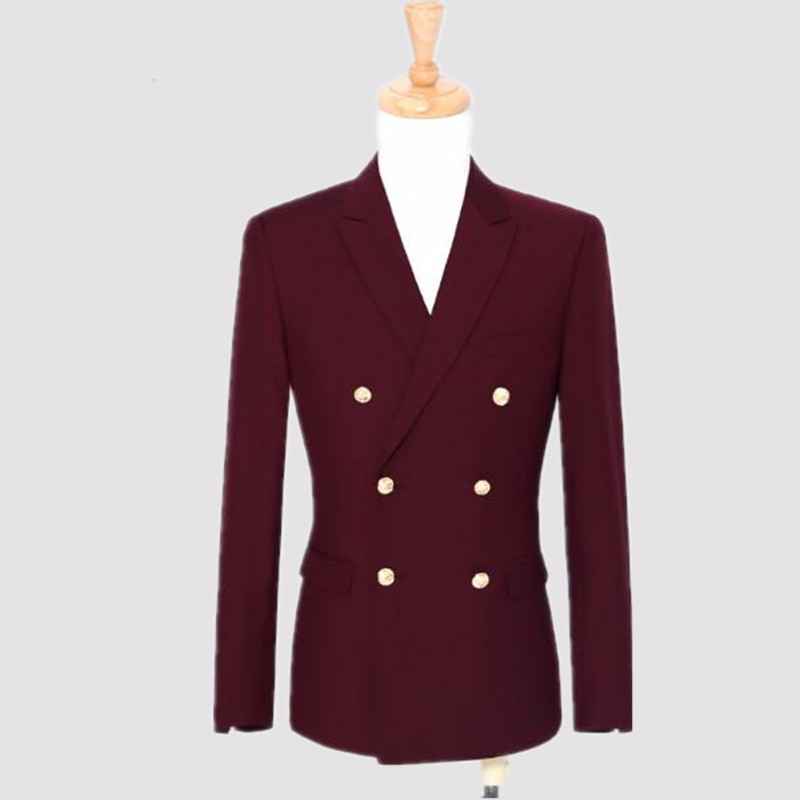 9.1Red and black men suits jacket double breasted bridegroom tuxedos jacket new arrival wedding best man suits jacket