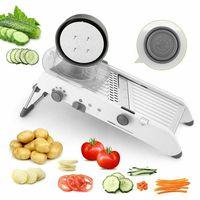 18 çeşit Kullanımı Mandoline Sebze Kesici Öğütücüler Paslanmaz Çelik Dilimleme Soğan patates doğrayıcı Havuç Rende mutfak gereçleri|Öğütücüler ve Diliciler|   -