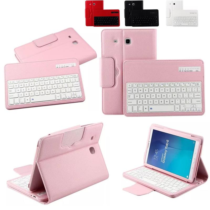 2 dans 1 Amovible Sans Fil Bluetooth Clavier Cas Pour Samsung Galaxy Tab E T560 T561 9.6 pouce Tablet PC Cas couverture Peau Shell
