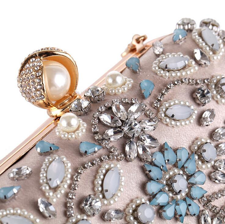 Cristales Con Cuentas de noche para las mujeres del diseñador de Moda bolsos de
