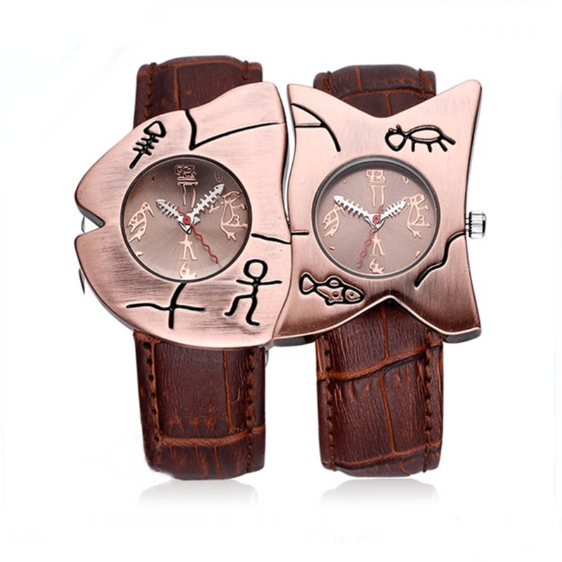 ? Quartz Watch Personality Novel Wrist Fish Shape Fashion Life Waterproof Leather Strap Men Women Wrist watches for women novel design 2015 hot sell men women quartz wrist watch fashion woman cowboy fabric band wrist watch