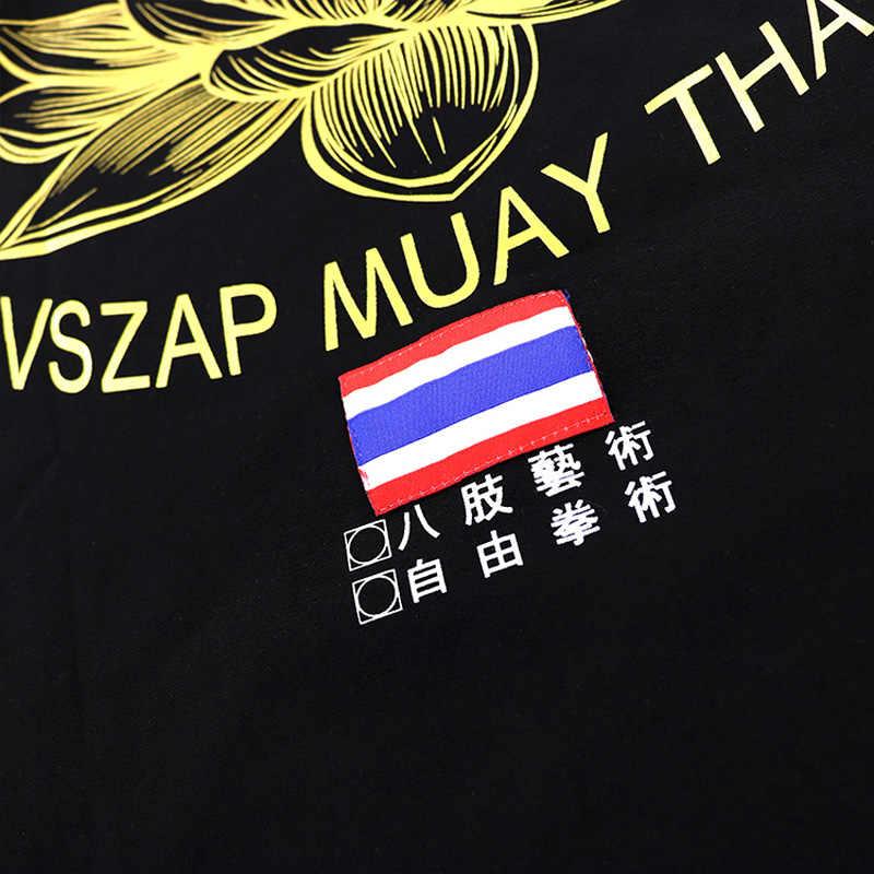 Musim Panas Baru Vszap Lotus Kebugaran Rompi MMA Rompi Tanpa Lengan Rompi UFC Penyiaran Muay Thai Tiger Sanda Fighting Rompi Katun Berkualitas Tinggi