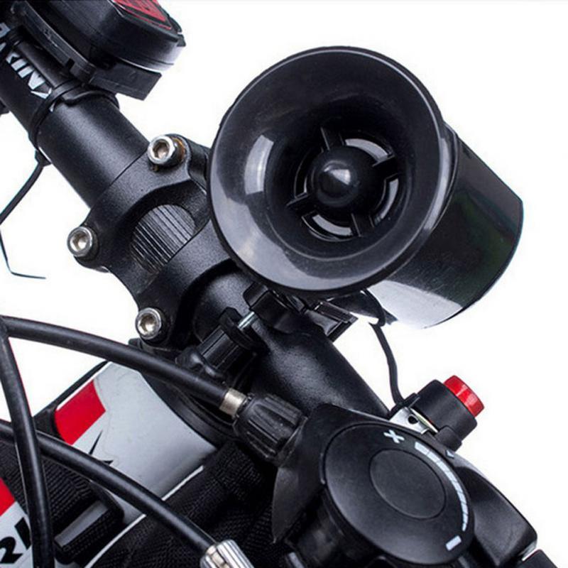 Hot Sale 6 Sounds Super Loud Black Electronic Bicycle Bell MTB Bike Horn Siren Ring Alarm Speaker Ultra-loud Speaker 11 09 universal cute beetle style electronic horn for bike pink black 2 x aa