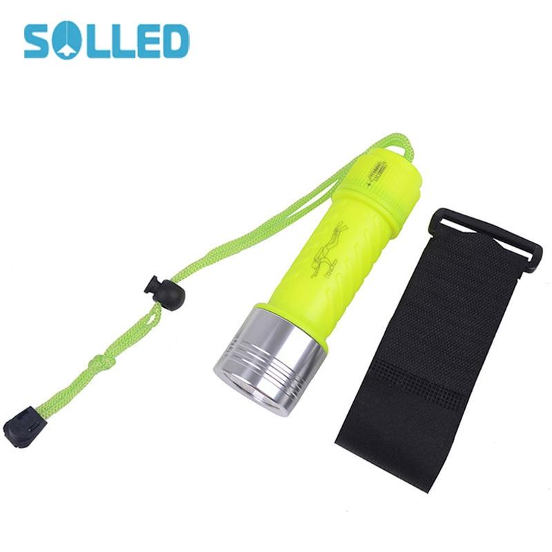 SOLLED Waterproof XM L T6 LED Underwater Flashlight 50M ...