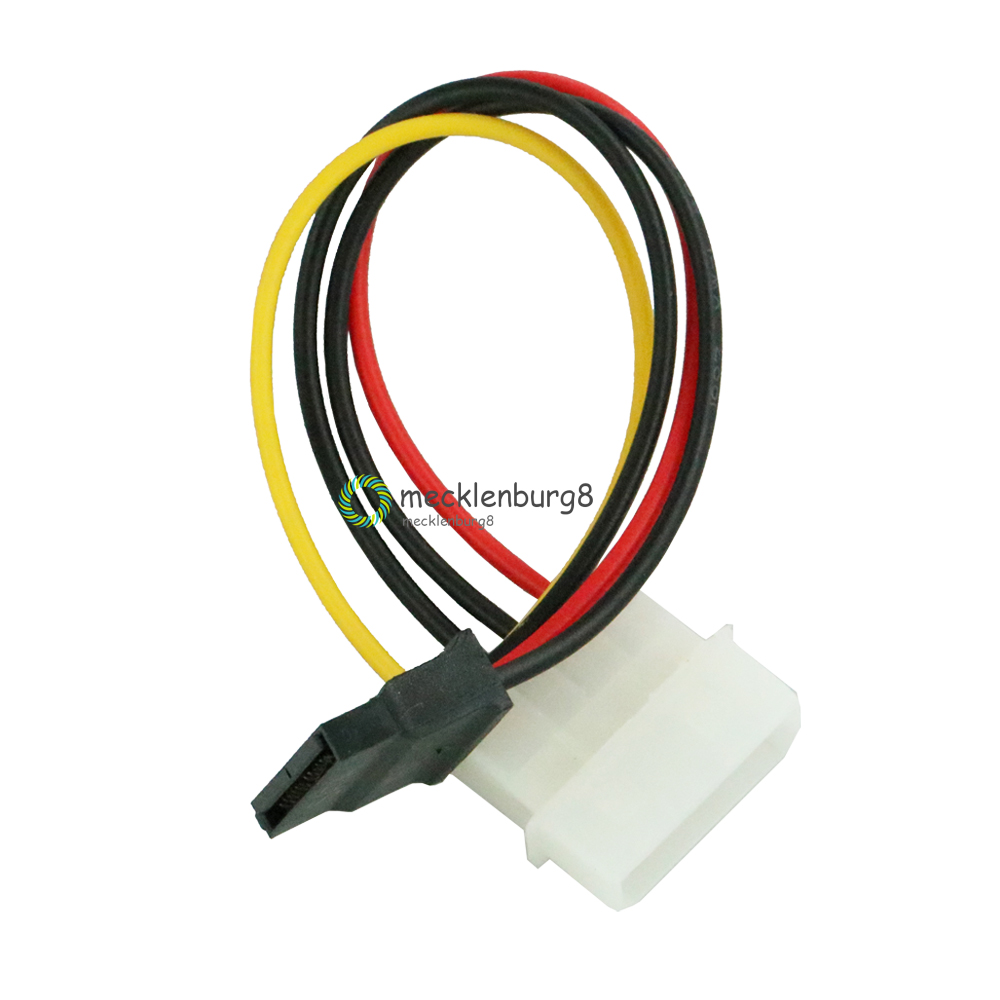 2pcs / Lot 4 Pin IDE Molex Male To 15 Pin Serial ATA SATA Hard Disk Power Adapter