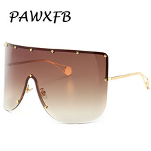 PAWXFB Vintage Retro Sunglasses Women Men 2019 Oversized Windproof Glasses Big Frame Goggles Sun Eyewear