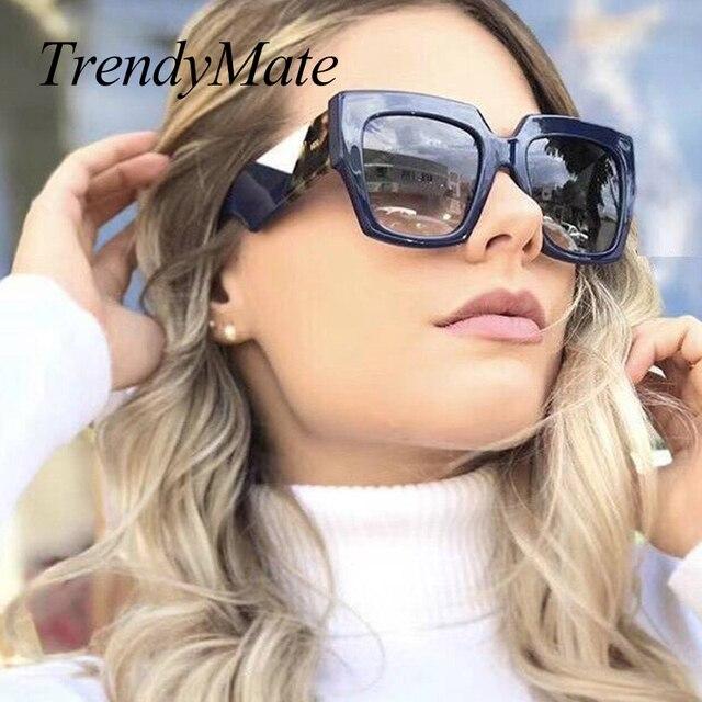 0fd06d7840d Luxury Italian Sunglasses Women Brand Designer Full Star Sun Glasses Female  Oversize Retro Square Ladies Sunglasses