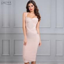 6391bd3c95c Adyce 2018 новые женские бандажные платья Красный Черный Синий Белый  Розовый Желтый платье с открытой спиной