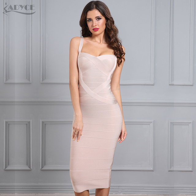 2018 New Woman Bandage Dress Bodycon Party Dress Red Black Blue White Pink Yellow Sexy Celebrity Backless Dress Drop shipping